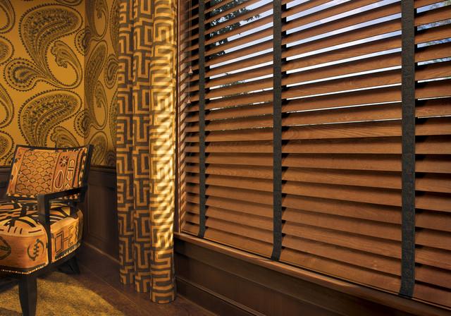 Hunter Douglas Parkland Wood Blinds by Northwest Window Coverings