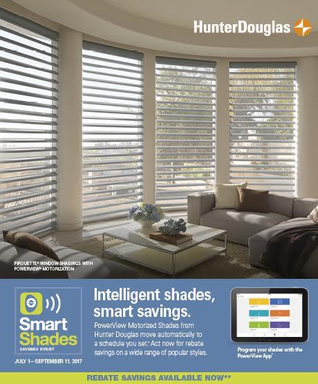 Hunter douglas powerview motorized smart shades savings for Hunter douglas motorized shades