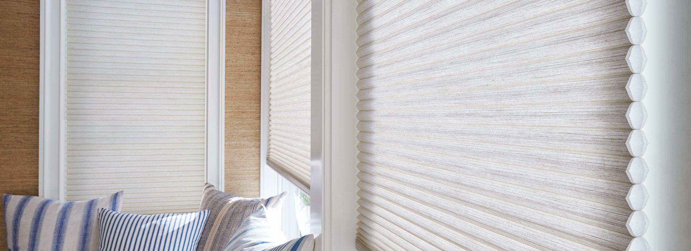 Charmant Duette Fabric: Architella® Alexa Color: Desert Sands