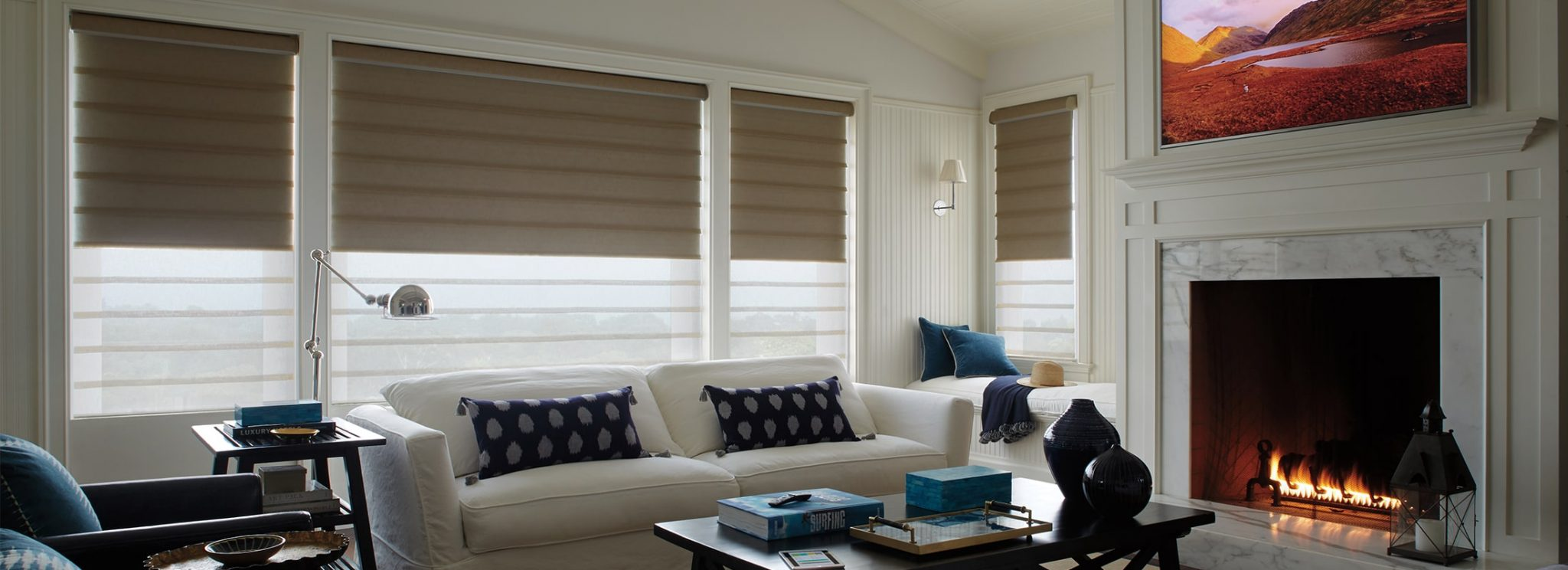 Hunter Douglas Window Fashions Vignette Modern Roman Shades Northwest Window Coverings